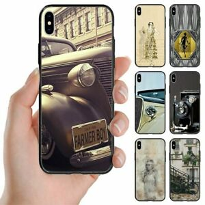 For Apple iPhone Series 1930s Lifestyle Theme Print Back Case Mobile Phone Cover