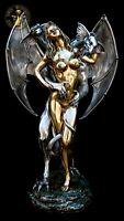 Bronze Skulptur Figure Erotic Dragon Erotik Statue Fantasie Dragon Luxus Liebe