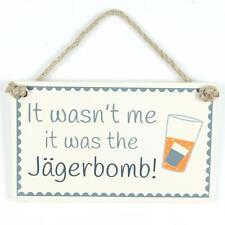 Mensaje divertido alcohol jagerbomb signo Puerta Placa De Pared Pizarra Colgante Hogar Regalo