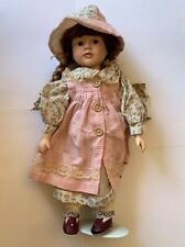 Vintage Porcelain Doll with Stand