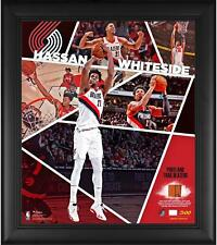Hassan Whiteside Trail Blazers Frmd 15x17 Impact Collage & Piece of Used Ball
