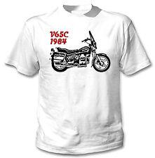 Moto GUZZI V65C-1984 inspirado-nuevo Blanco Camiseta Algodón