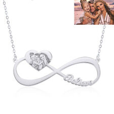 Personalized 925 Sterling Silver Gold Plated Name Photo Necklace Customized