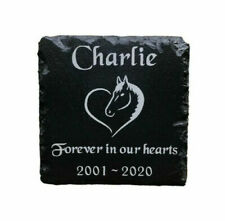 Personalised Engraved Pet Memorial Slate Headstone Grave Marker Plaque for Horse