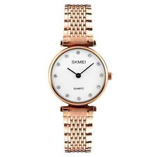 Skmei Women's Watch Rose Gold White Clear Dial Mesh Strap Crystal Stones SK1223
