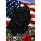 American Pit Bull Terrier Black Patriotic Flag