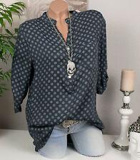 3/4 Arm Damenblusen, - tops & -shirts aus Viskose gepunktete im Passform