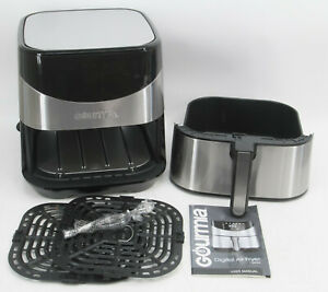 Gourmia GAF685 6 Qt. Capacity Aero Crisp Stainless Steel Digital Air Fryer #2341