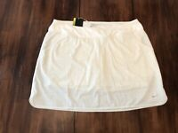 Women's NIKE Golf Skort/Skirt Polyester/Spandex Tennis Dri-Fit  Size XL White