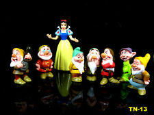 8pcs set Disney Princess Snow White and the Seven Dwarfs Figures Cake Topper Toy