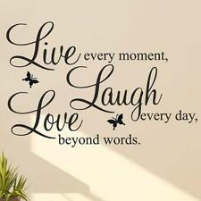 LIVE LAUGH LOVE Quote Vinyl Decal Removable Art Wall Stickers Home Room Decor YN