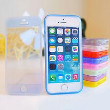 TPU gel de silicona Funda con tapa PARACHOQUES Claro para iPhone 4 4s 5 5s
