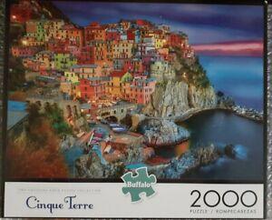 """Buffalo Games 2000 piece Cinque Terre puzzle #92000 (38.5"""" x 26.5"""")"""