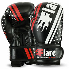 Flare Boxing Gloves Juniors Training Mitts Kids Punch Bag Sparring 6oz - 8oz