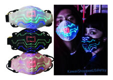 *Hot* Music Sound Activated Led Face Mask Party Rave Halloween Tron Glow