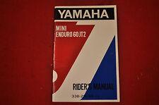 NOS 1972 Yamaha JT2 60 Owner's Manual