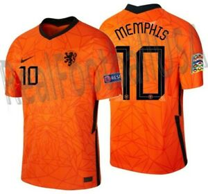 NIKE MEMPHIS DEPAY NETHERLANDS NATIONS LEAGUE HOME JERSEY 2020 2021