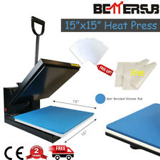 """New listing BetterSub Clamshell 15""""x15"""" Heat Press Machine + Sublimation Paper for T-shirts"""