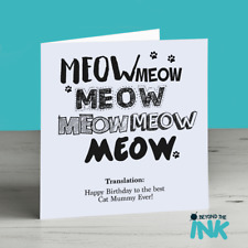 Birthday Card From The Cat - Happy Birthday To The Best Cat Daddy or Mummy