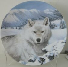 Timber Ghost By Thomas Hirata Wild Spirits Wolf 1992 Collector Plate W.S. George