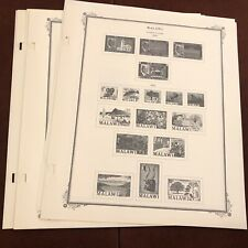 MALAWI 1964-67 SCOTT SPECIALTY Stamp Album Pages, Complete