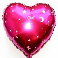 3 Piece Helium Foil Balloons Disney Mickey Minnie Mouse Pink Moon Heart Baby