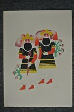 SIGNED Carlos Merida Carnival in Mexico lithograph 1940