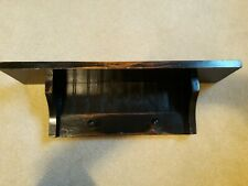 """Rustic Black BEAD BOARD WALL SHELF with Hooks and Plate Groove 23 1/2"""""""