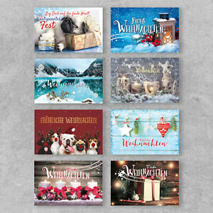 Karten Weihnachten lustig 12er Set Klappkarten mit Umschläge Familie Firma TOP!!