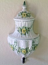 ITALIAN~PORCELAIN~LAVA BOWL~STAMPED ITALY~COURTYARD DECOR