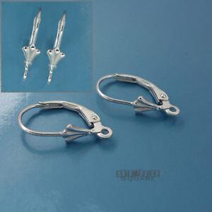 6PC Sterling Silver Shell Lever Back Leverback Ear Wire Earrings Open Loop 33527