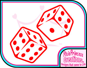 Dice B Vinyl Sticker Car Wall Room Poster Window Casino Board Game Lucky Decal