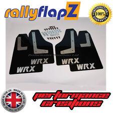 rallyflapZ SUBARU IMPREZA Sedan (2010-2014) Mud Flaps Black WRX Silver 3mm PVC