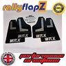 Rallyflapz SUBARU IMPREZA SEDAN (2010-2014) guardafangos negro WRX PLATA 4mm PVC