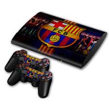 PLAYSTATION PS3 SUPER SLIM FC Barcelona SKIN STICKER + 2 X PAD SKINS