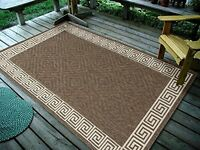 "3'3""X5' Contemporary Geometric, Brown Indoor & Outdoor Area Rug - 1113"