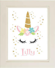 Personalised Any Name Unicorn A4 Glossy Print