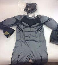 Batman Adult Costume, Medium, New, Men's Black Jumpsuit w/Muscles, Mask