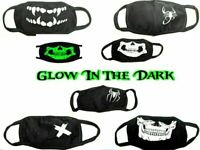 New Face Mask Fashion Glows in the Dark Washable Reusable Unisex Skull Masks