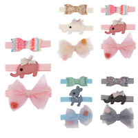3PCS Kids Floral Headband Girls Baby Fashion Bowknot Accessories Hairband Set