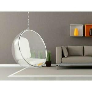Hanging Bubble Chair Stainless Steel Frame with Cushions Various Colours Options