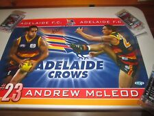 Andrew McLeod  (Adelaide Crows) signed crows poster + COA  (#447)