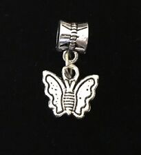 Butterfly Garden Bug Large Hole Dangle Bead for Silver European Charm Bracelets