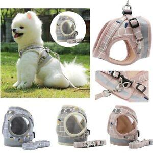 Dog Puppy Harness Adjustable Soft Padded Vest Small Medium Mesh Jacket Cute