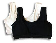 Teen Girls First Cotton Crop Top Bra, 2 Pack. Fit 9-16yrs.
