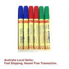 12 x High Quality Permanent Marker Chisel Tip in Blue/Green Ass Colour