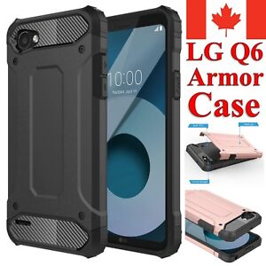 For LG Q6 Case - Dual Layer Hybrid Shockproof Heavy Duty Hard Armor Cover