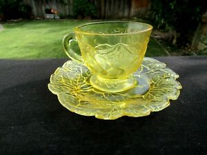 Tiara Indiana Yellow Mist Sweet Pear Avocado Cup And Saucer