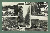 1962 MULTI-VIEW RP POSTCARD ABERFELDY  - HIGHLAND PERTHSHIRE PUB. BY VALENTINE'S