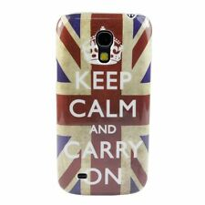 2x Pellicole + Custodia case per Galaxy S4 SIV Mini i9195 Keep Calm and Carry On